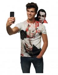 T-shirt dracula til voksne Halloween