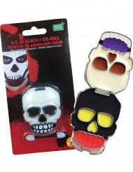 Dødningehoved makeup sæt til Halloween