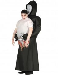 Oppusteligt døden kostume til voksne - Halloween