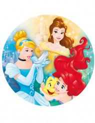 Spiselig kagedekoration Disney Princesses™ 20cm