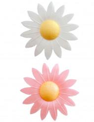 8 Spiselige kagedekorationer blomster