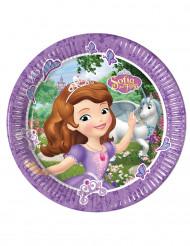 8 stk Paptallerkener Princesse Sofia og Enhjøringen™