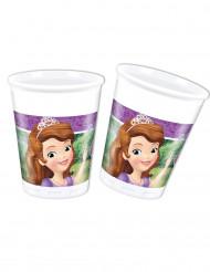 8 Plastik krus prinsesse Sofia™ 20 cl
