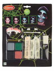 Selvlysende skelet sminke - Halloween