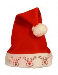 Hue med rensdyr og lys til voksne jul