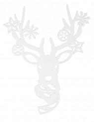 Dekoration til vindue julerensdyr 35 cm