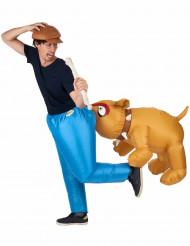 Kostume Bulldog oppusteligt til voksne