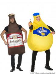 Kostume Orangina™ og ølflaske