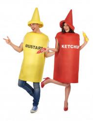 Parkostume sennep og ketchup