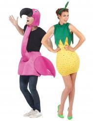 Parkostume Flamingo og Ananas