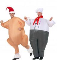 Kostume kok og kalkun oppusteligt til voksne