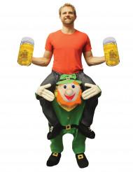 Mand på ryggen af en nisse kostume til voksne