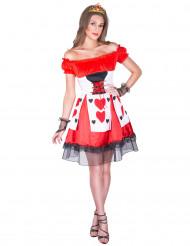 Kostume hjerterdame til kvinder