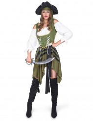 Grønne lisa - Piratkostume til kvinder