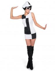 Kostume disco sort hvid til kvinder