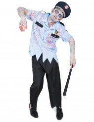 Kostume zombie politi Halloween til mænd