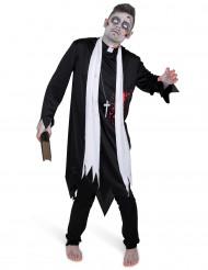 Kostume zombie præst til mænd