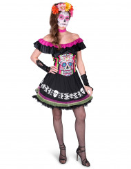 Kostume Mariachi Dia de los Muertos til kvinder