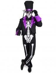 Kostume Dia de los Muertos lilla til mænd
