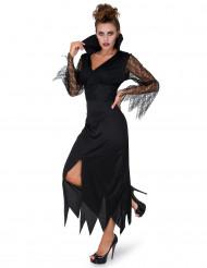 Kostume heks med blonder sort til kvinder