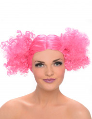 Paryk krøllet rosa til kvinder