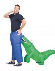 Kostume oppusteligt krokodille til voksne