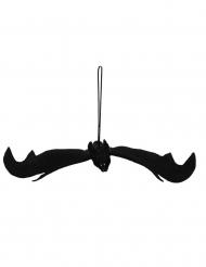 Sort flagermus hængedekoration Halloween 54x26 cm