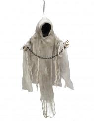 Lysende dekorations skelet i kæder uden ansigt