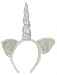 Hårbånd sølv unicorn