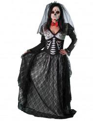 Skelet grevinde kostume til kvinder - Dia de los Muertos