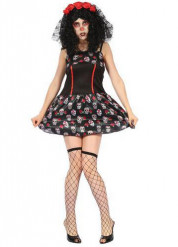 Kostume dødningehoveder girly Dia de los Muertos