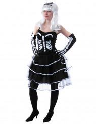 Kostume skelet prinsesse Halloween