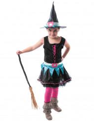 Kostume farverig heks til piger Halloween