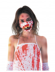 Zombiemund Halloween maske til voksne
