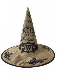 Heksehat hessian Halloween til voksne