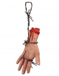 Blodig hånd på pigtråd - Halloween dekoration