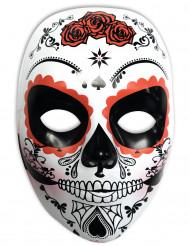 Maske hvid Dia de los Muertos til kvinder