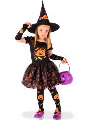 Kostume heks med græskar til piger