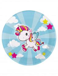 Tallerkener 8 stk. lille unicorn