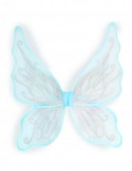 Sommerfuglevinger med sølvfarvet pailletter til piger