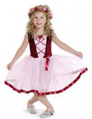 Blomsterpige - Lyserød kjole til piger