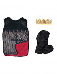 Vendbar tunika ridder rød til drenge