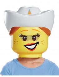 Maske cowgirl LEGO® til børn