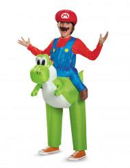 Kostume oppustelig Mario på ryggen af Yoshi Nintendo® til børn