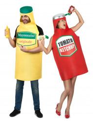 Parkostume Mayonaisse og Ketchup
