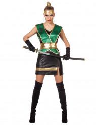 Kostume grøn ninja til kvinder