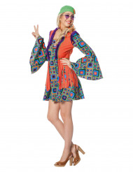 Kostume hippie med lange ærmer og frynser