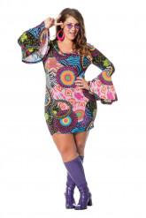 Kostume hippie rock multifarvet til kvinder