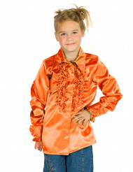 Skjorte i orange med frynser