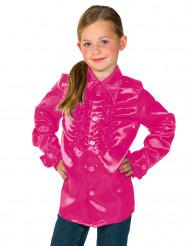 Skjorte i rosa med frynser til børn
